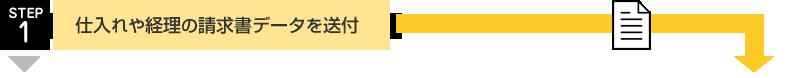 お客様の業務範囲:仕入れや経理の請求書データを送付