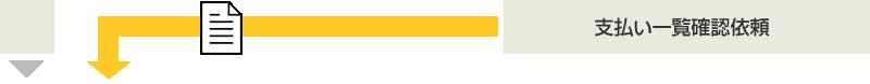 当社の業務範囲:支払い一覧確認依頼